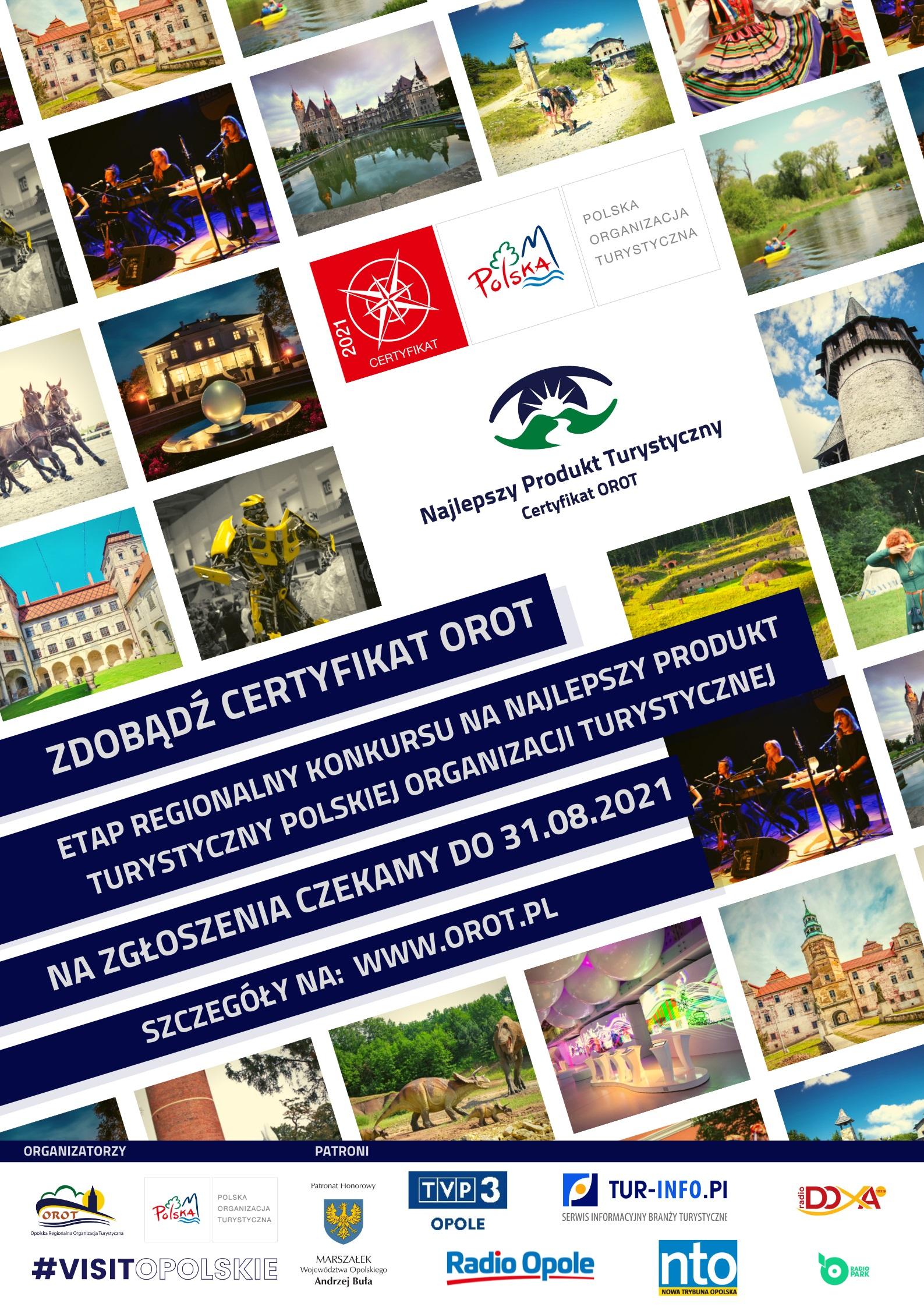 Trwa XII edycja konkursu na Najlepszy Produkt Turystyczny Województwa Opolskiego – Certyfikat OROT 2021! [materiały organizatora]