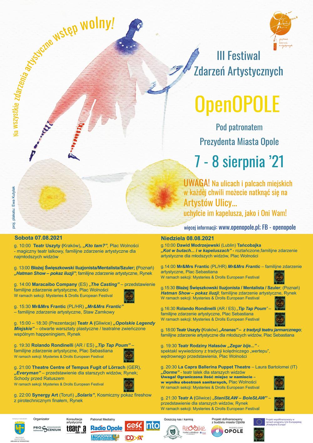 Centrum Opola znów zapełni się artystami – przed nami III Festiwal Zdarzeń Artystycznych OpenOpole! [materiały organizatora]