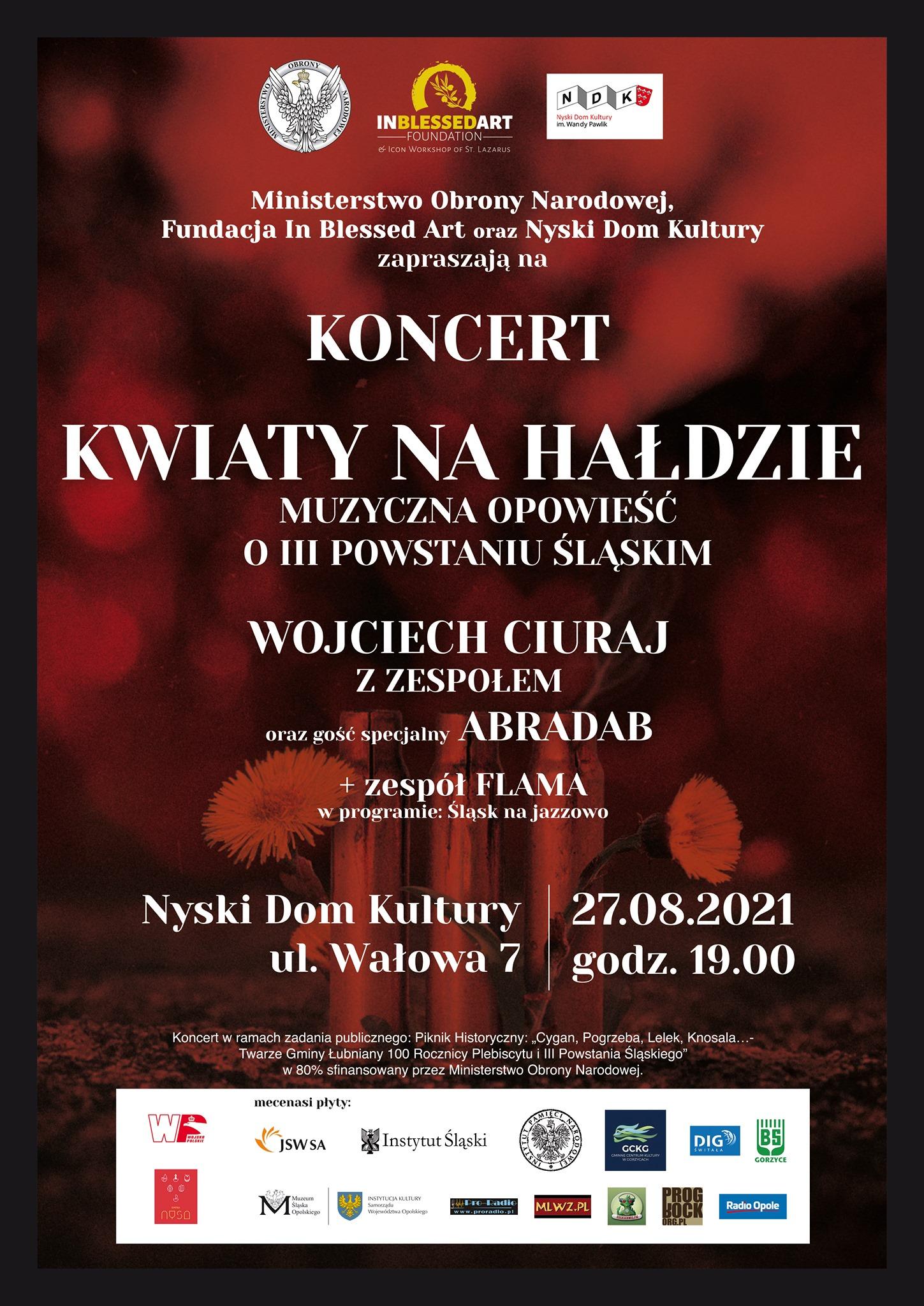 Plakat koncertu w Nysie