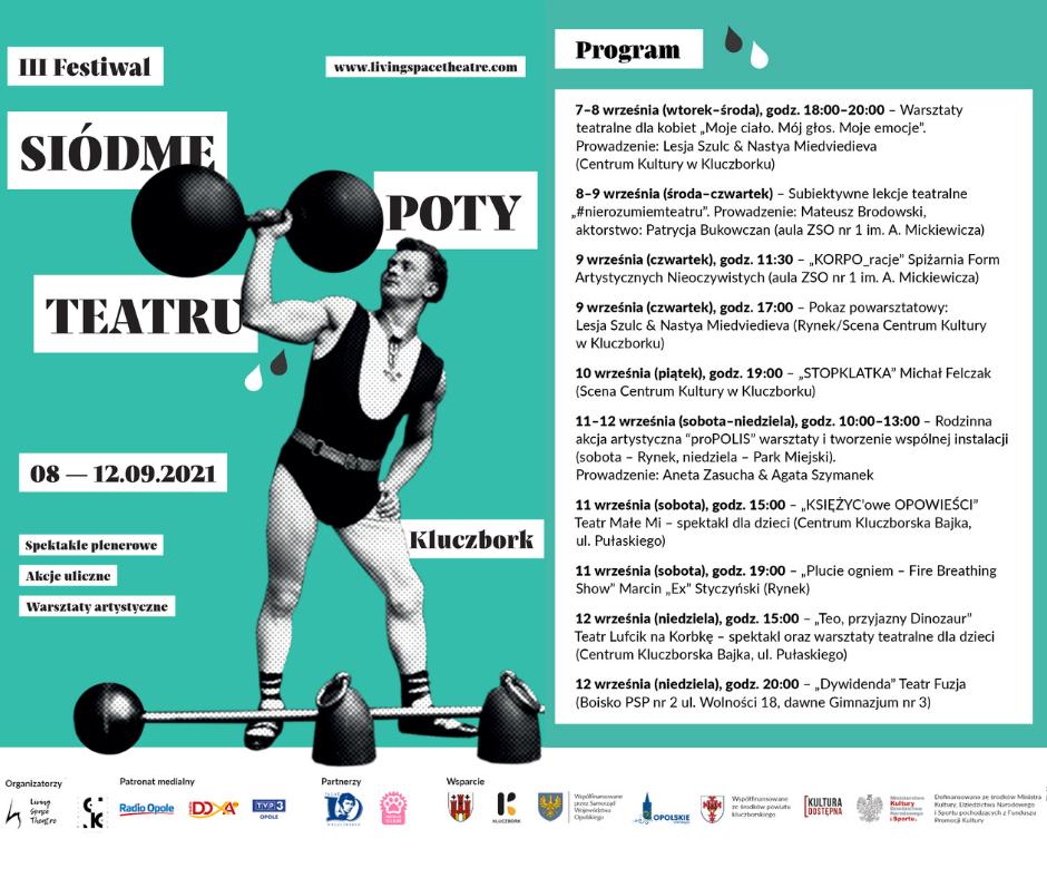 Plakat. III Festiwal Siódme Poty Teatru