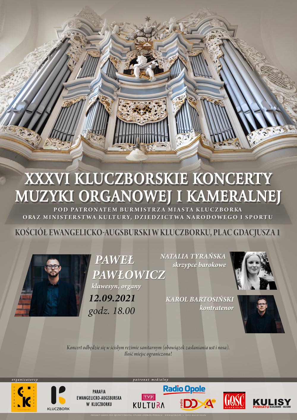 Plakat promujący koncert Pawła Pawłowicza (12.09.2021)