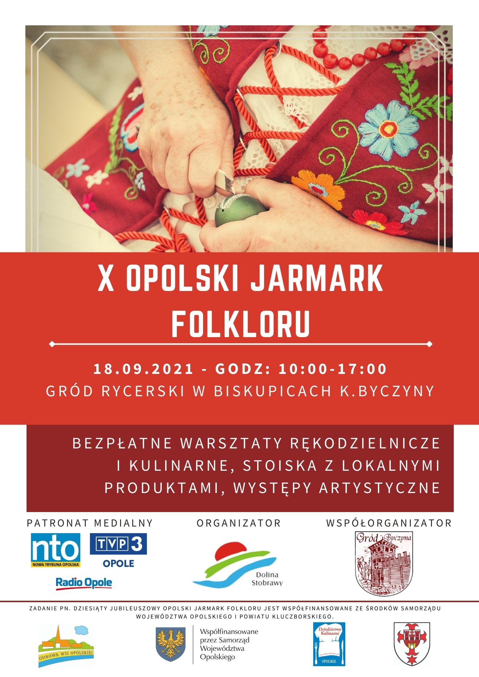 Plakat. X Opolski Jarmark Folkloru