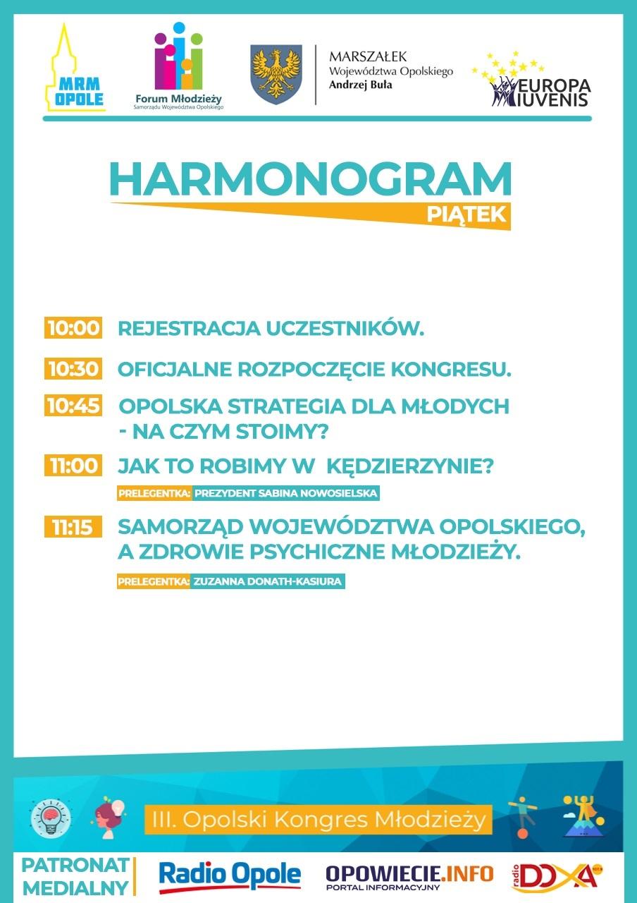 HARMONOGRAM - PIĄTEK - I