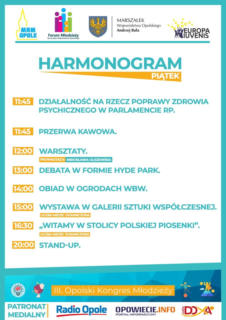 HARMONOGRAM - PIĄTEK - II