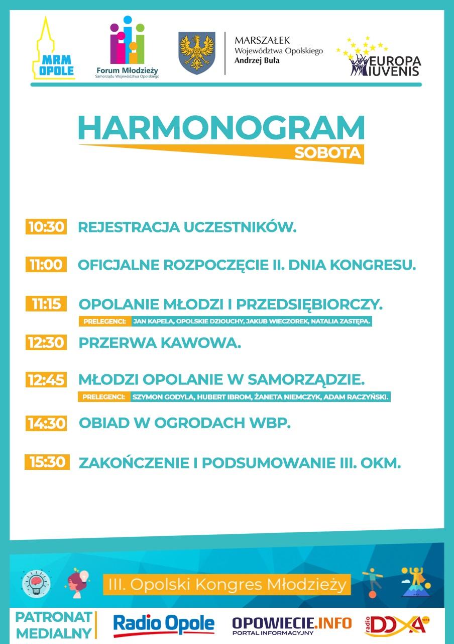 HARMONOGRAM - SOBOTA.