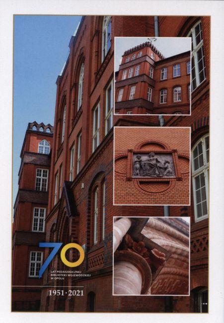 Pocztówka przygotowana z okazji 70-lecia PBW w Opolu [fot. materiały biblioteki]
