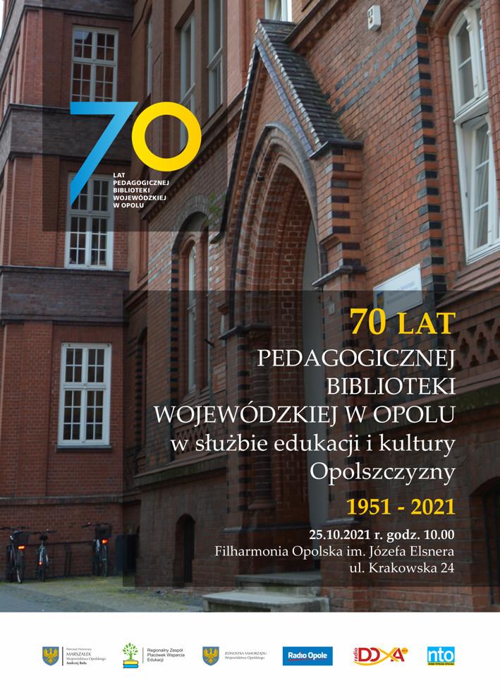 Jubileusz 70-lecia Pedagogicznej Biblioteki Wojewódzkiej w Opolu [fot. materiały organizatora]