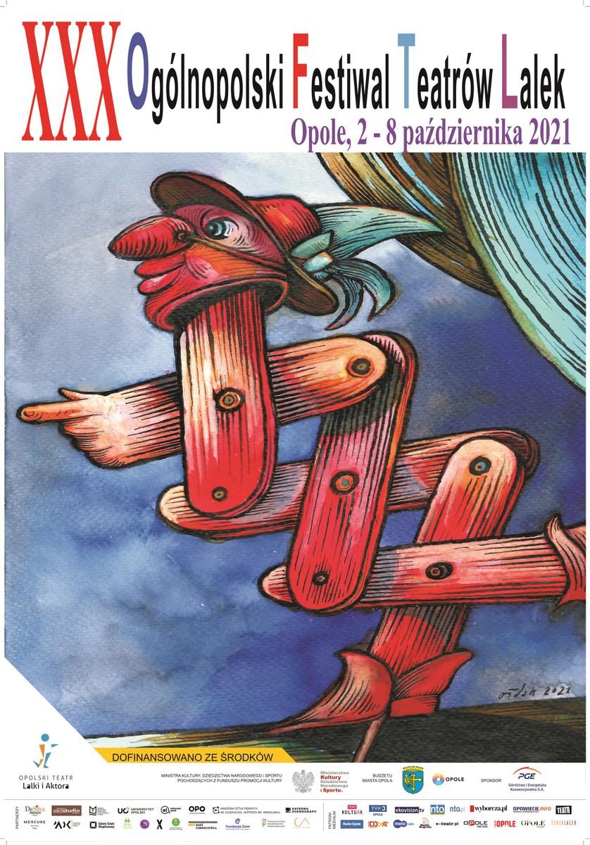 Plakat XXX Ogólnopolskiego Festiwalu Teatrów Lalek