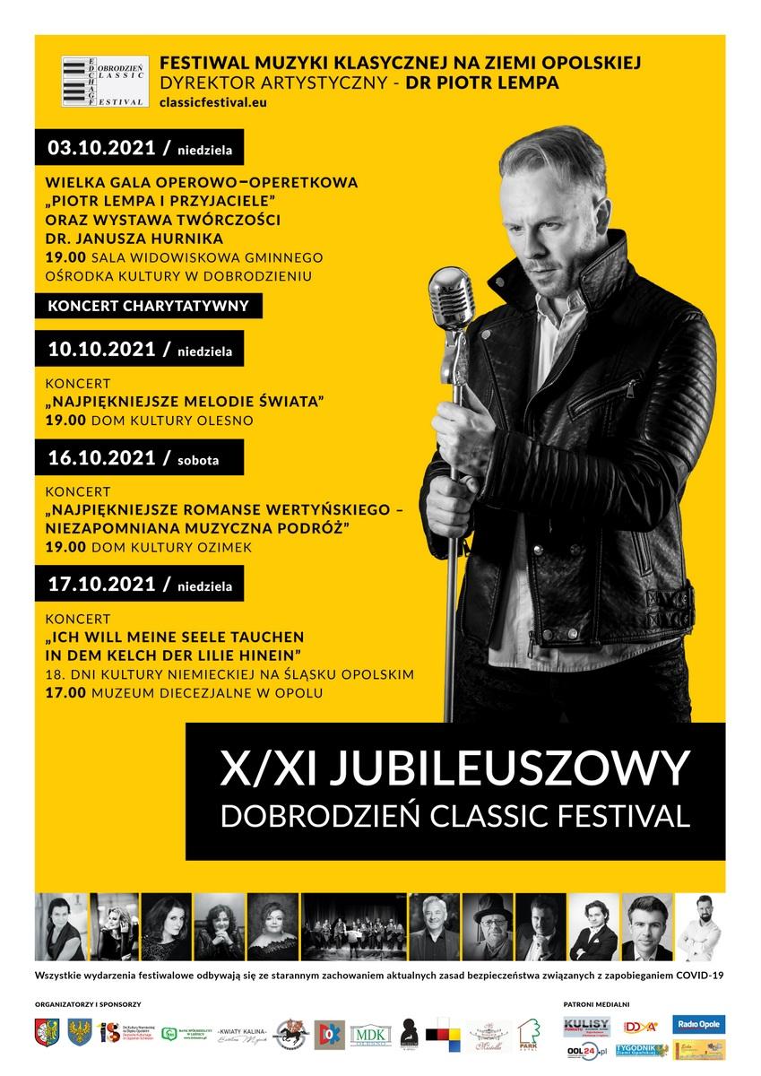 Plakat XI Dobrodzień Classic Festival