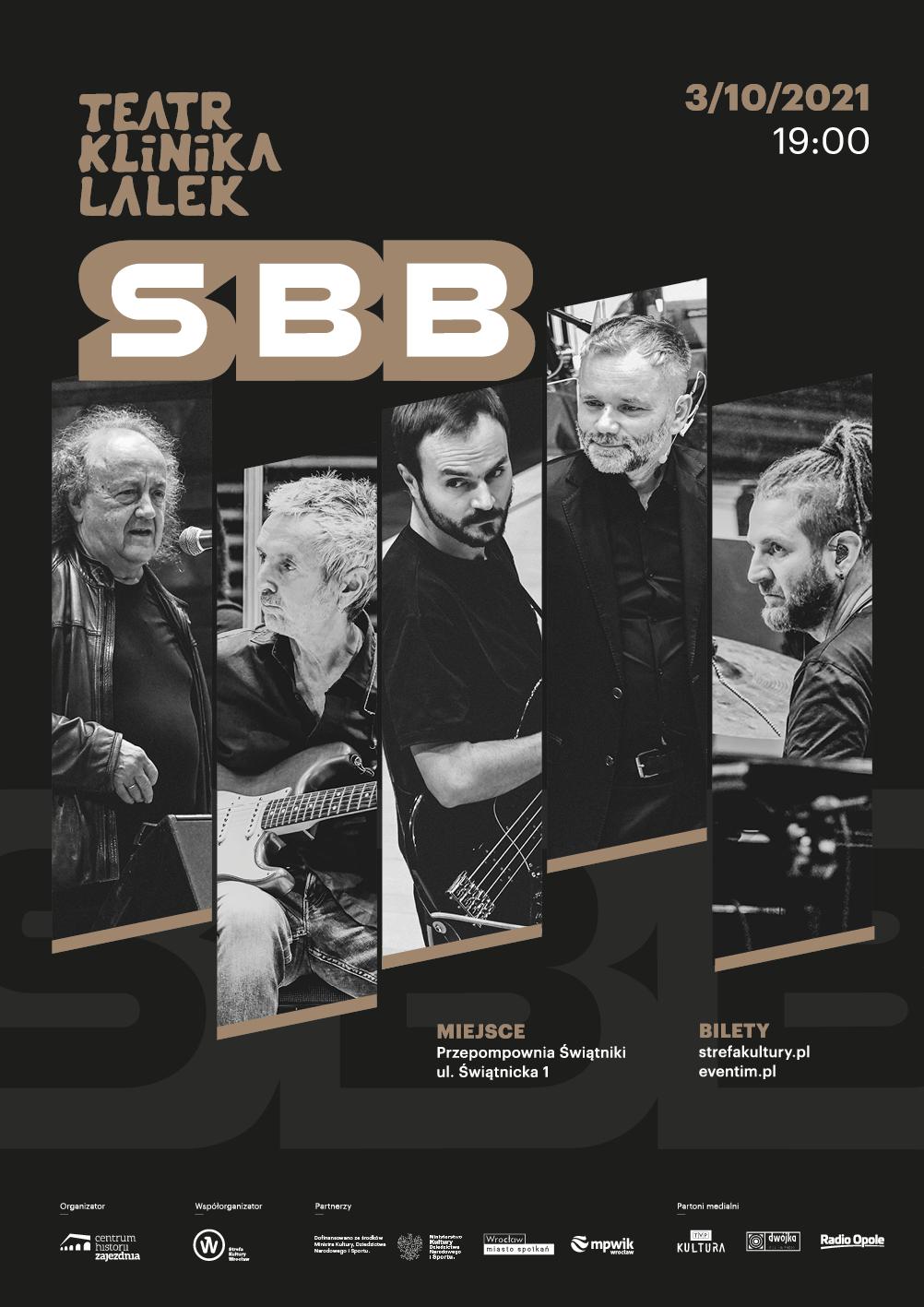SBB – wyjątkowy koncert z okazji 50-lecia zespołu tym razem we Wrocławiu. Muzyka będzie połączona ze spektaklem Teatru Klinika Lalek!