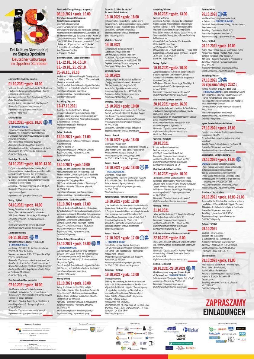 18. Dni Kultury Niemieckiej na Śląsku Opolskim – w programie ponad 40 wydarzeń w 11 miejscowościach woj. opolskiego! [fot. materiały organizatora]