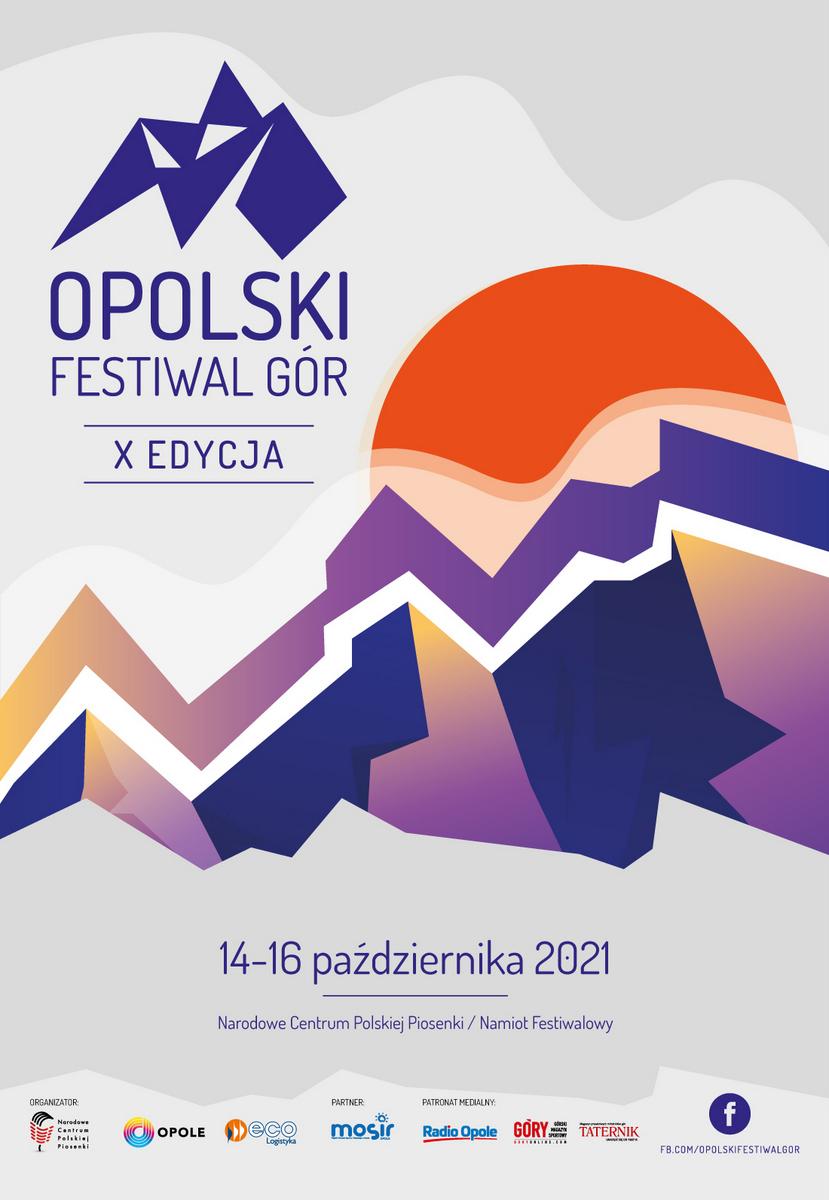 Plakat X Opolskiego Festiwalu Gór