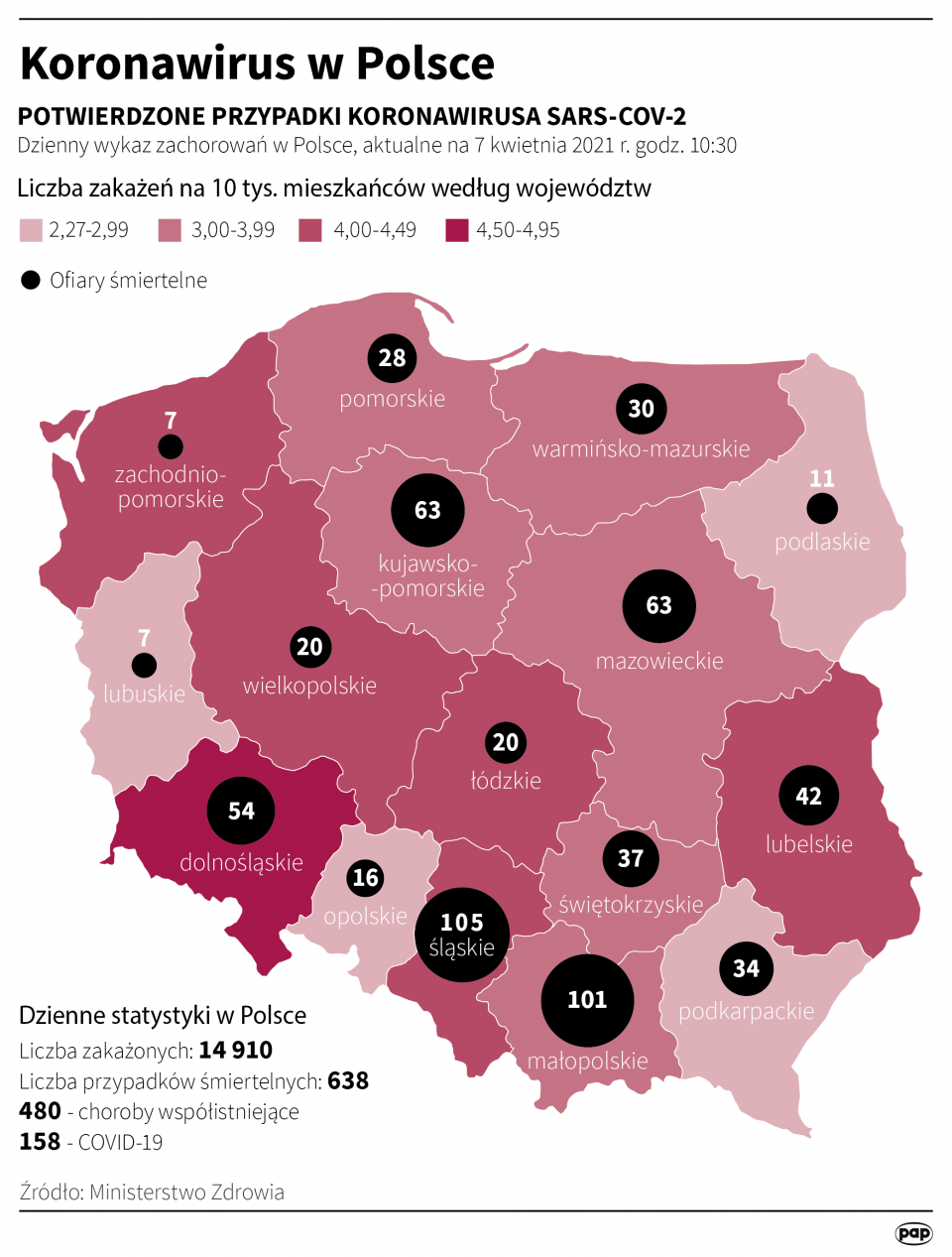 Koronawirus w Polsce - stan na 7 kwietnia [fot. Maciej Zieliński/PAP]